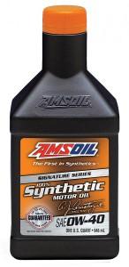<a href='http://www.amsoil.com/?zo=1122941' target='_blank'>AMSOIL</a> 0W-40 motor oil