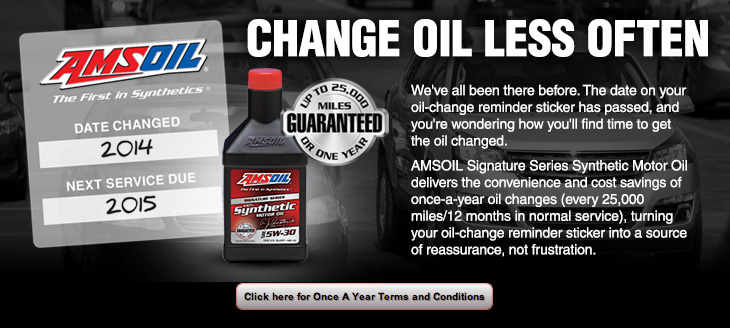 Amsoil adds 700 hour limit to synthetic signature series for How often to change full synthetic motor oil