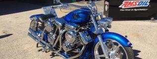 Blue V-twin bike